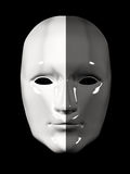 Human face mask of different colors - black and white Royalty Free Stock Images