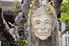 Human face pot Conceptual sculpture in Rongkhun Temple Chiangrai, Thailand Stock Images