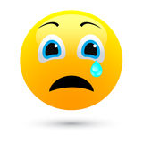 Human face sad. On white background Stock Photography