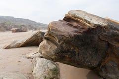 Human face shaped rock Royalty Free Stock Photos