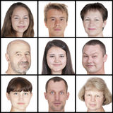 Human faces of different ages Royalty Free Stock Photo