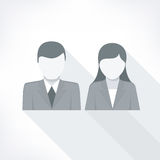 Human faces on white Stock Images