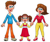 Human family. Cartoon and  characters Royalty Free Stock Images