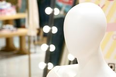 Human female mannequin portrait photograph royalty free stock images