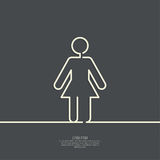 Human female sign icon Stock Photography