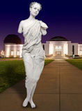Human Female Statue at the Griffith Observatory. Live Human Female Statue at the Griffith Observatory stock photos