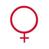 Human female symbol. Closeup of human female symbol on white background Royalty Free Stock Images