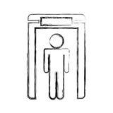Human figure in airport scann Stock Photos