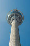 A human figure bungee jumping off the Macau Tower Stock Image
