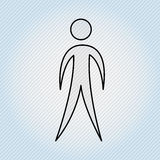 Human figure design Royalty Free Stock Image