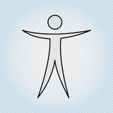 Human figure design Royalty Free Stock Photo