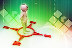 Human figure on directional sign Royalty Free Stock Image