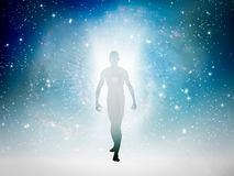 Human figure of light vector illustration