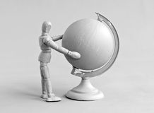 Human figure and globe Royalty Free Stock Photography