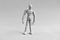 Human figure in grey Royalty Free Stock Photos
