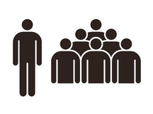 Human figure and group of people. On white background Stock Photo