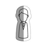 Human figure of man icon. Over white background.  illustration Stock Images