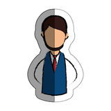 Human figure of man icon. Over white background.  illustration Royalty Free Stock Images