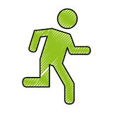 Human figure running silhouette icon. Vector illustration design Royalty Free Stock Photo