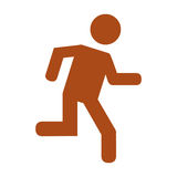 Human figure running silhouette icon. Vector illustration design Stock Photo