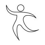 Human figure silhouette icon Stock Image
