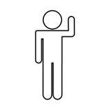 Human figure silhouette icon Stock Photos