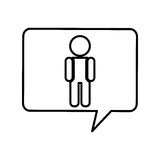 Human figure silhouette icon Stock Photography