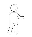 Human figure silhouette isolated icon design. Illustration  graphic Stock Photo