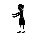 Human figure of woman icon. Silhouette of human figure of woman icon over white background.  illustration Stock Photography
