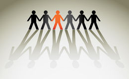 Human figures. In a row - illustration Stock Images