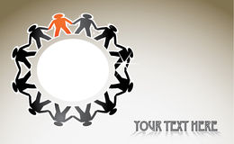 Human figures. In a circle - illustration Royalty Free Stock Photography
