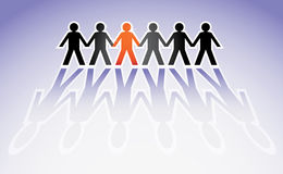 Human figures. In a row - illustration Royalty Free Stock Photography