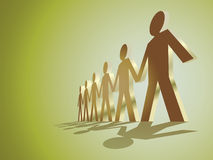 Human figures. In a row - illustration Royalty Free Stock Image