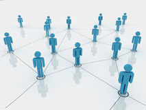 Human figures as a symbol of social network Stock Photo