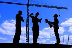 Human figures builders Stock Image