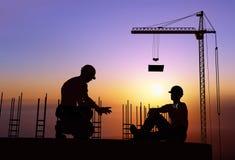 Human figures builders Stock Photos
