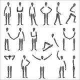 Human figures. In different poses. Vector silhouette Stock Photo
