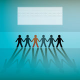 Human figures in a row. Background - illustration Stock Photography
