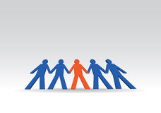 Human figures in a row. Illustration Stock Photography