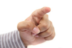 Human finger pointing Royalty Free Stock Image