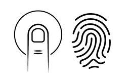 Human finger print vector icon. Isolated on white background Royalty Free Stock Image