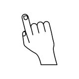 Human finger touching something. Icon vector illustration graphic design Stock Photo