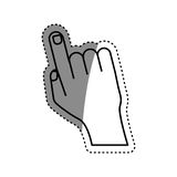 Human finger touching something. Icon vector illustration graphic design Royalty Free Stock Photography