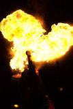 Human Fire Breather royalty free stock photo