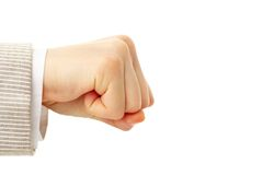 Human fist Stock Images