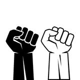 Human fist hand icon. S set Royalty Free Stock Image