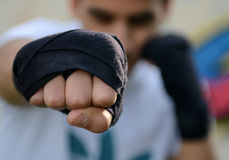 Human fist royalty free stock images
