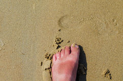 Human Foot, beach Royalty Free Stock Image
