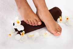 Human Foot Getting Aroma Therapy Royalty Free Stock Image