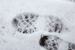 Human footprint on the ground Stock Photography
